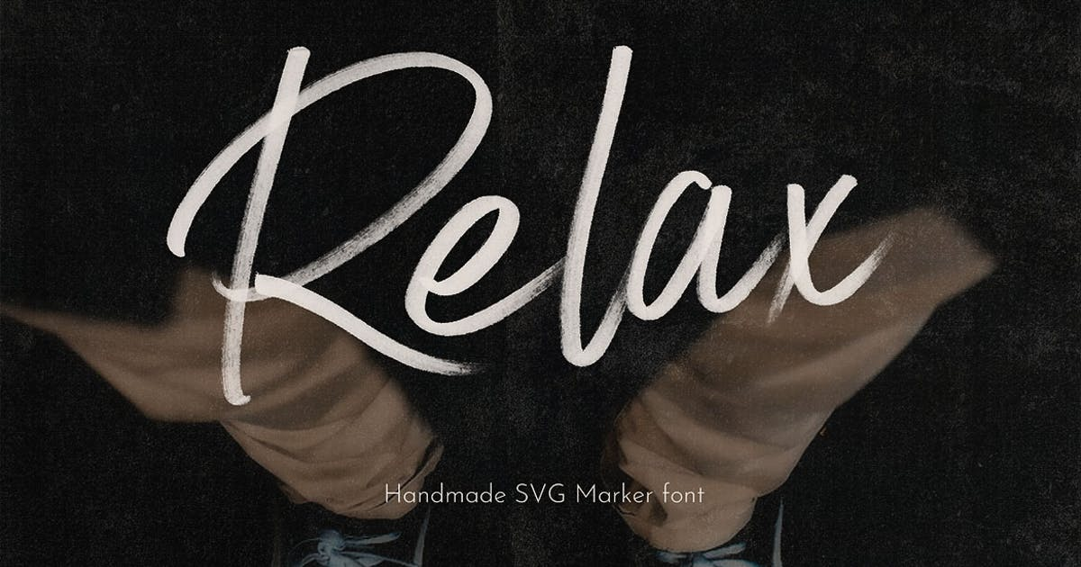 Download Relax SVG Marker Script Font by cruzine