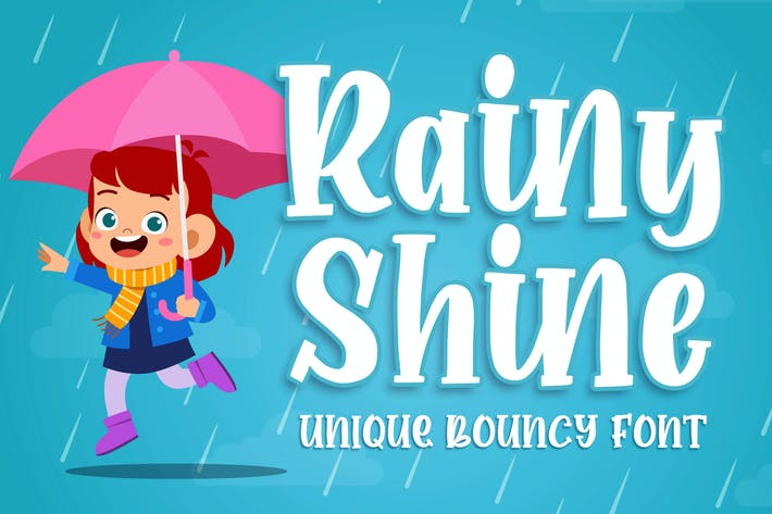 Rainy Shine - Unique Bouncy Font