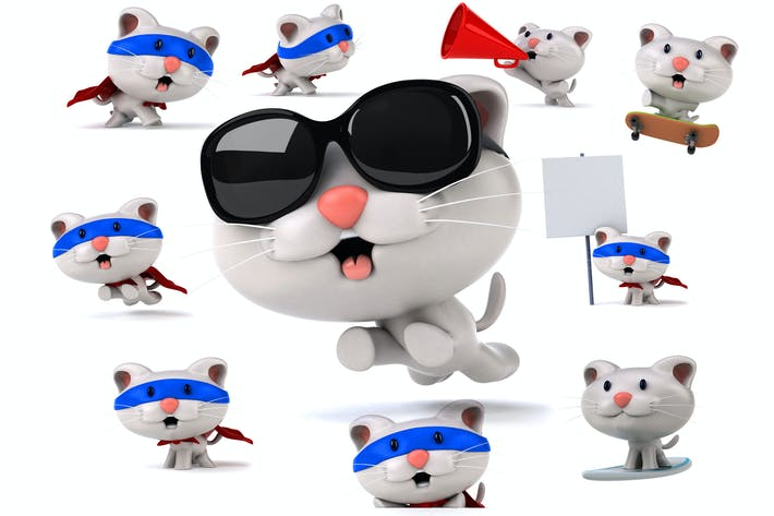 Thumbnail for 10 fun cartoon Cats !