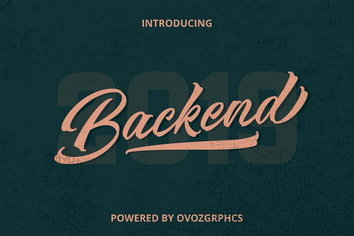 Thumbnail for Backend Script Font