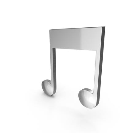 Chrome Musical Note