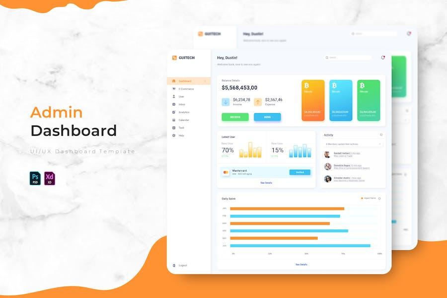 Guitech   Admin Dashboard Template