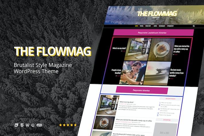 Thumbnail for FlowMag - Brutalist WordPress Magazine Theme