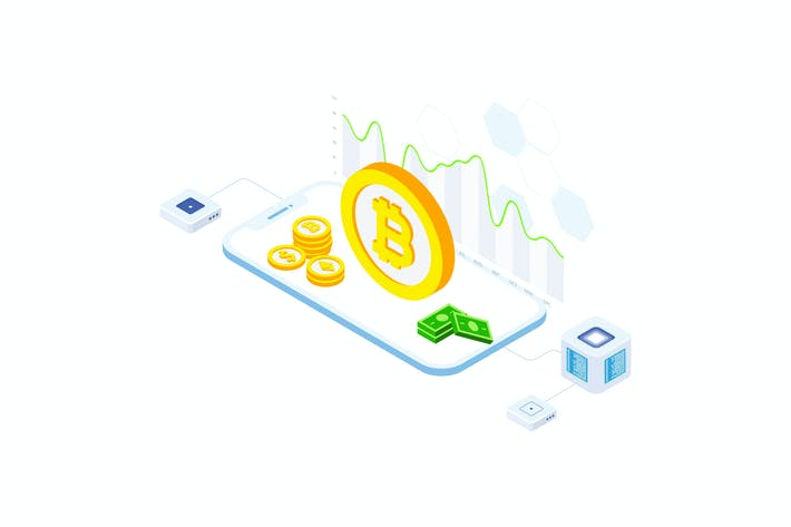 Thumbnail for Cryptocurrency Technology Blockchain Isometric  FV