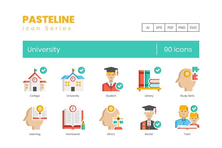 Thumbnail for 90 University Flat Icons