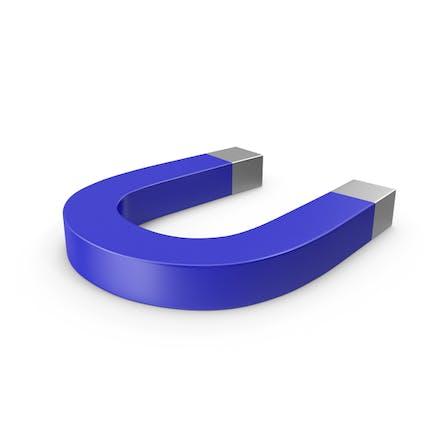 Hufeisen Magnet Blau