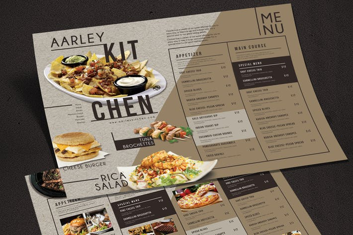 Cover Image For Simple Brown Menu Board
