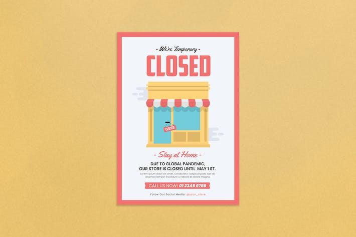 Thumbnail for Folleto del anuncio cerrado de la tienda