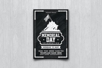 Memorial Day Chalkboard Flyer