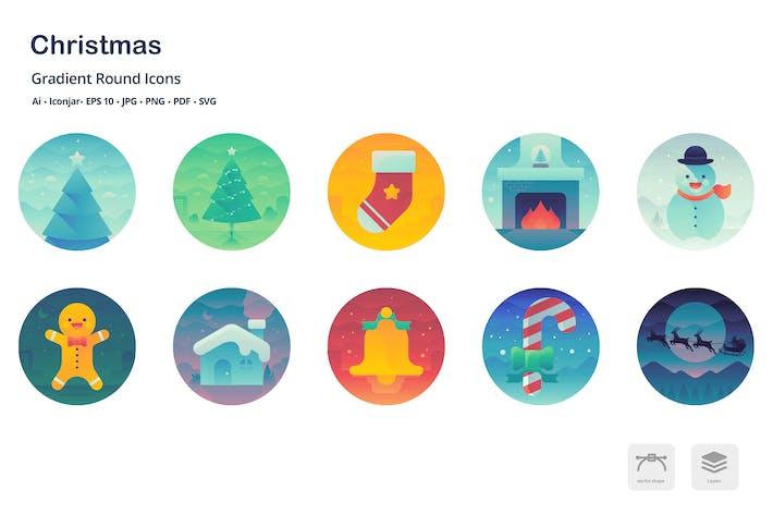 Thumbnail for Christas Gradient Round Icons