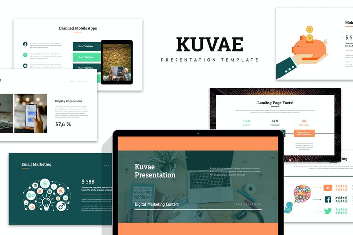 Thumbnail for Kuvae : Digital Marketing Proposal Powerpoint