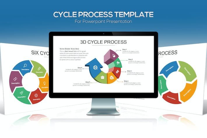 cycle process powerpoint template by slidefactory on envato elements