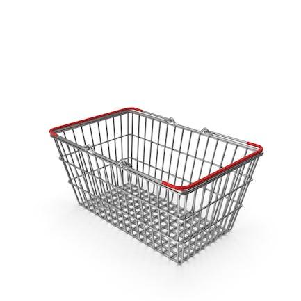 Supermarktkorb mit rotem Kunststoff
