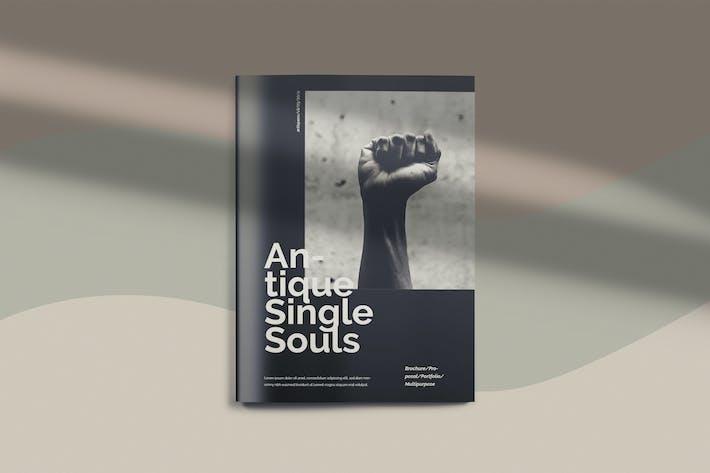 Thumbnail for Antique Single Souls - Lifestyle Brochure Template