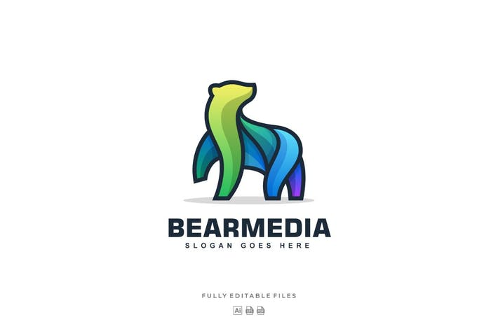 Thumbnail for Bear Color Line Logo Vector Template