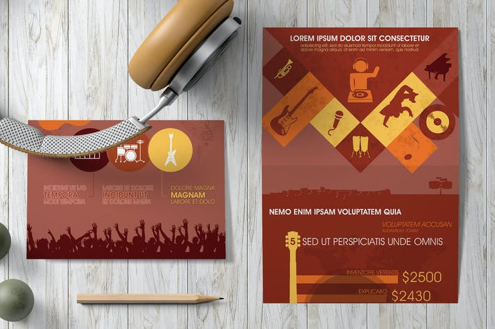 Cover Image For Music Infographics Template
