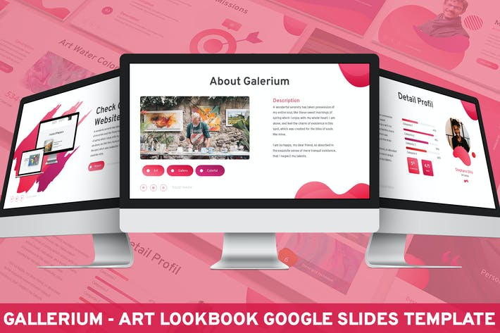 Galerium - Art Lookbook Google Slides Template