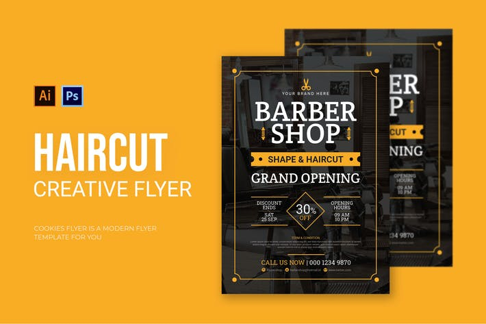 Cover Image For Haircut - Flyer