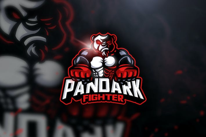 Thumbnail for Pandark Fighter - Mascot & Esport Logo