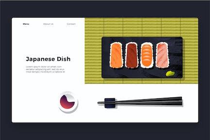 Japanisches Gericht - Banner & Landing Page