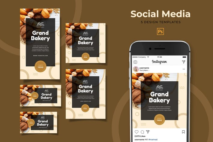 Thumbnail for Bakery Social Media Pack