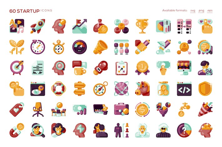 Thumbnail for 60 Startup Icons