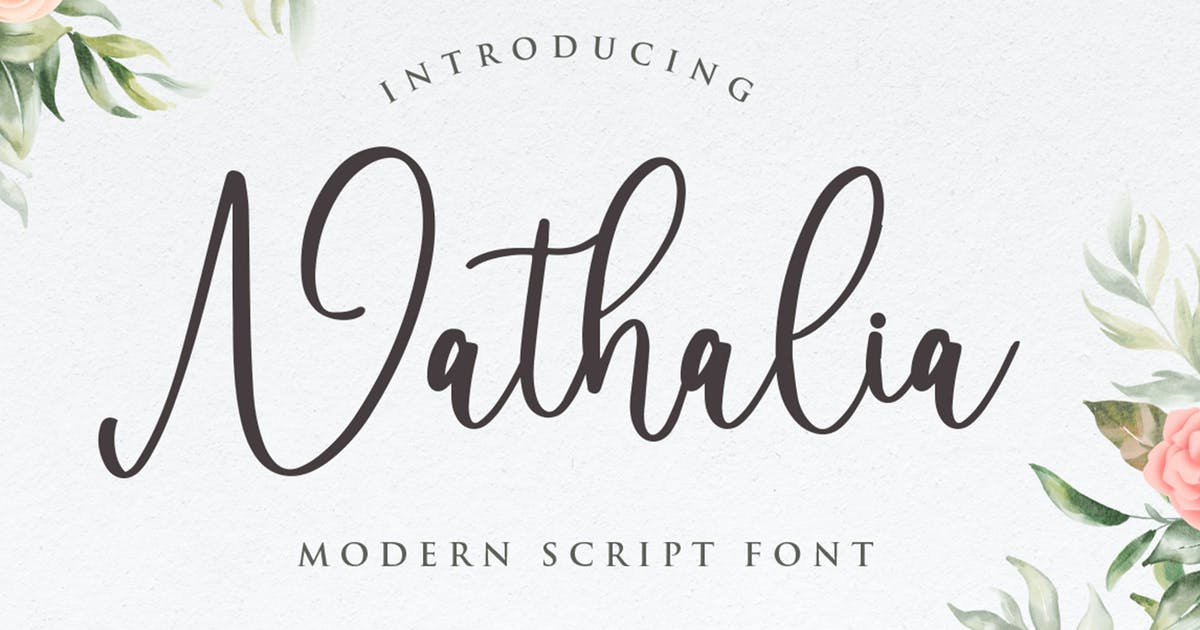 Download Nathalia Modern Calligraphy by vultype