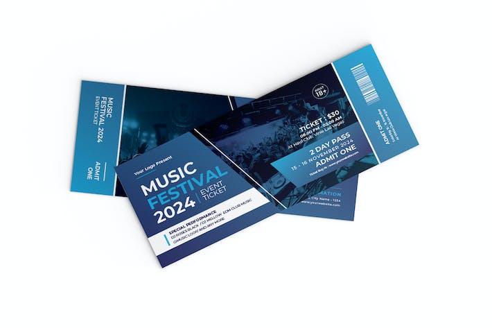 Ticket für Musikfestival