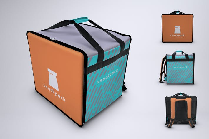 Thumbnail for Food Delivery Backpack Mock-Up