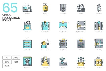 65 Video Production Icons & Movie Icons