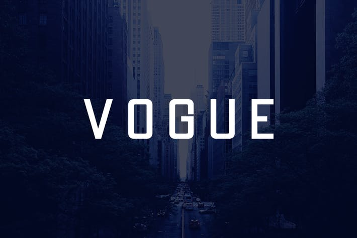 Thumbnail for VOGUE - Modern Display / Headline / Logo Typeface