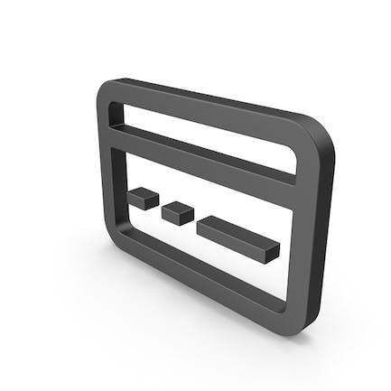 Symbol Bank Card Black