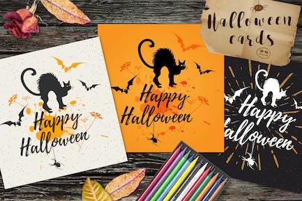 Cartes de vœux d'Halloween