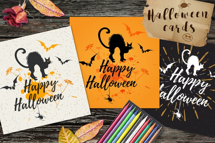Cover Image For Halloween Greeting Cards