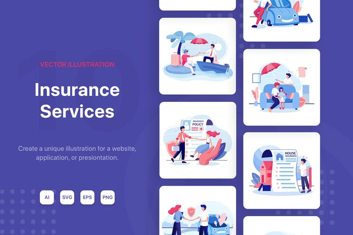 Thumbnail for Insurance Service Illustrations