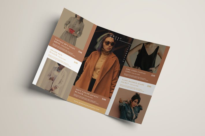 Thumbnail for Fashion Trifold Brochure