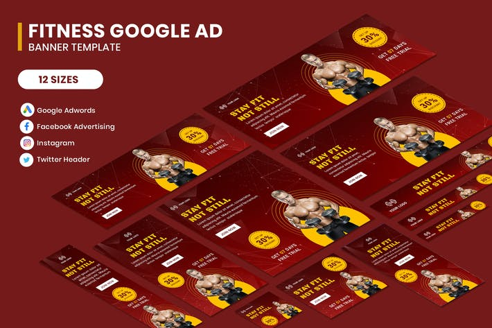 Thumbnail for Fitness Google AD Template