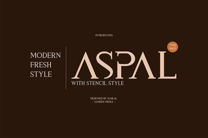 Thumbnail for Aspal Tipo de letra