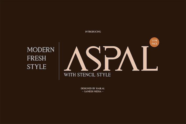 Thumbnail for Aspal Typeface Font