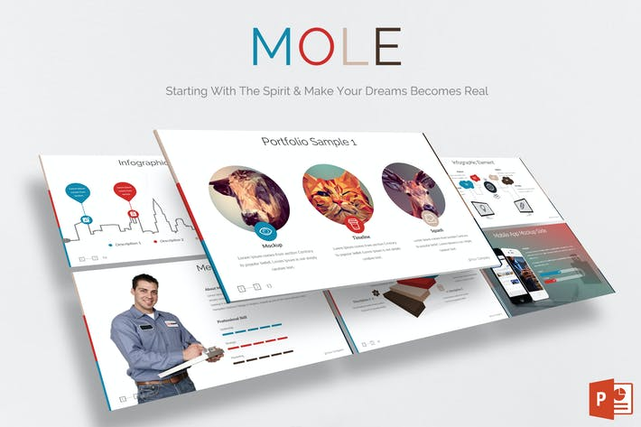 Thumbnail for Mole - Powerpoint Template