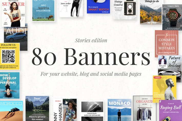Technology Blog Banners Decorative Flag Banners