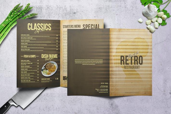 Thumbnail for 80's Retro Bifold A4 & US Letter Menu