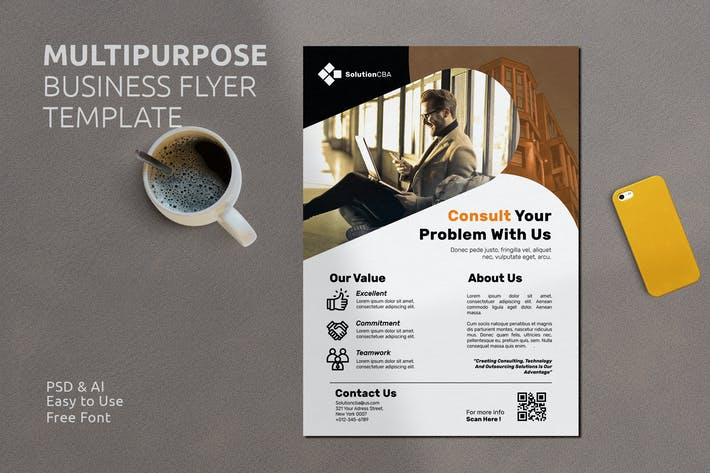 Thumbnail for Business Flyer Template Vol. 15