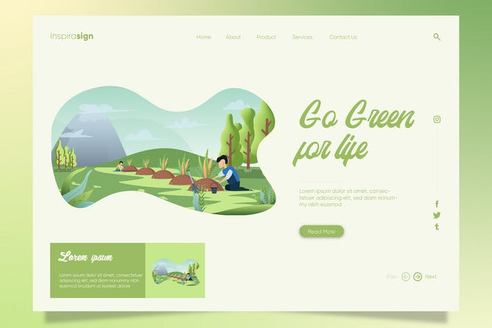Cover Image For Go Green for Life - Banner & Landing Page