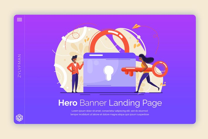 Thumbnail for Zylyfman - Hero Banner Template
