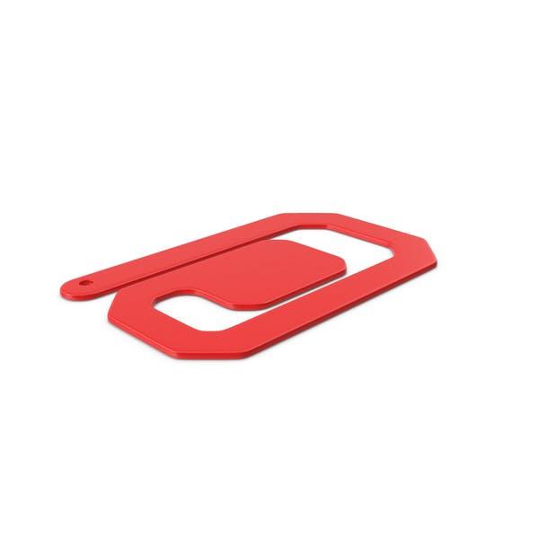 Пластиковые скрепки Красный