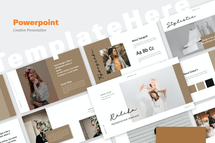 Cover Image For Ralika Creative Powerpoint