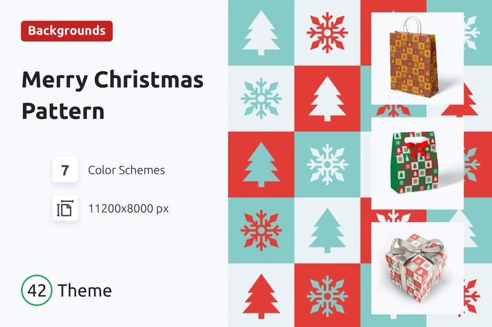Thumbnail for Christmas Pattern in Vintage style