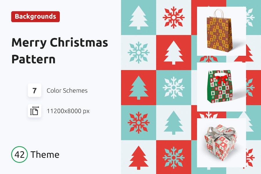 Weihnachtsmuster im Vintage-Stil