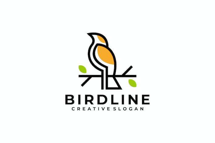 creative bird outline color logo template